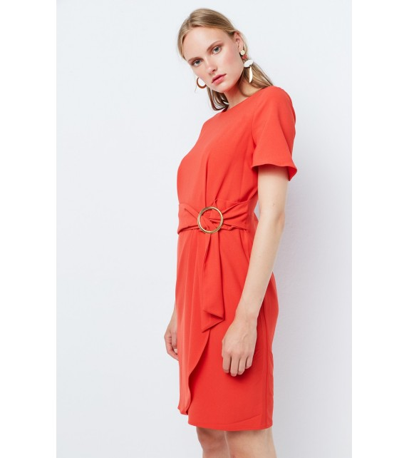 Vestido coral corto